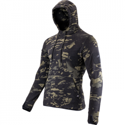 Fleece Hoodie Dark Multicam