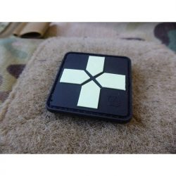 Red Cross Rubber Patch GITD